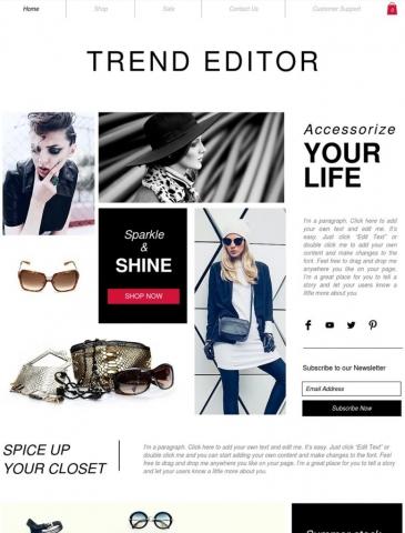 Fashion & Beauty Website Design