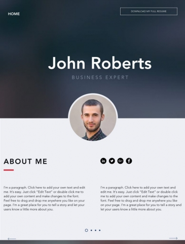 Portfolio & CV Website Design