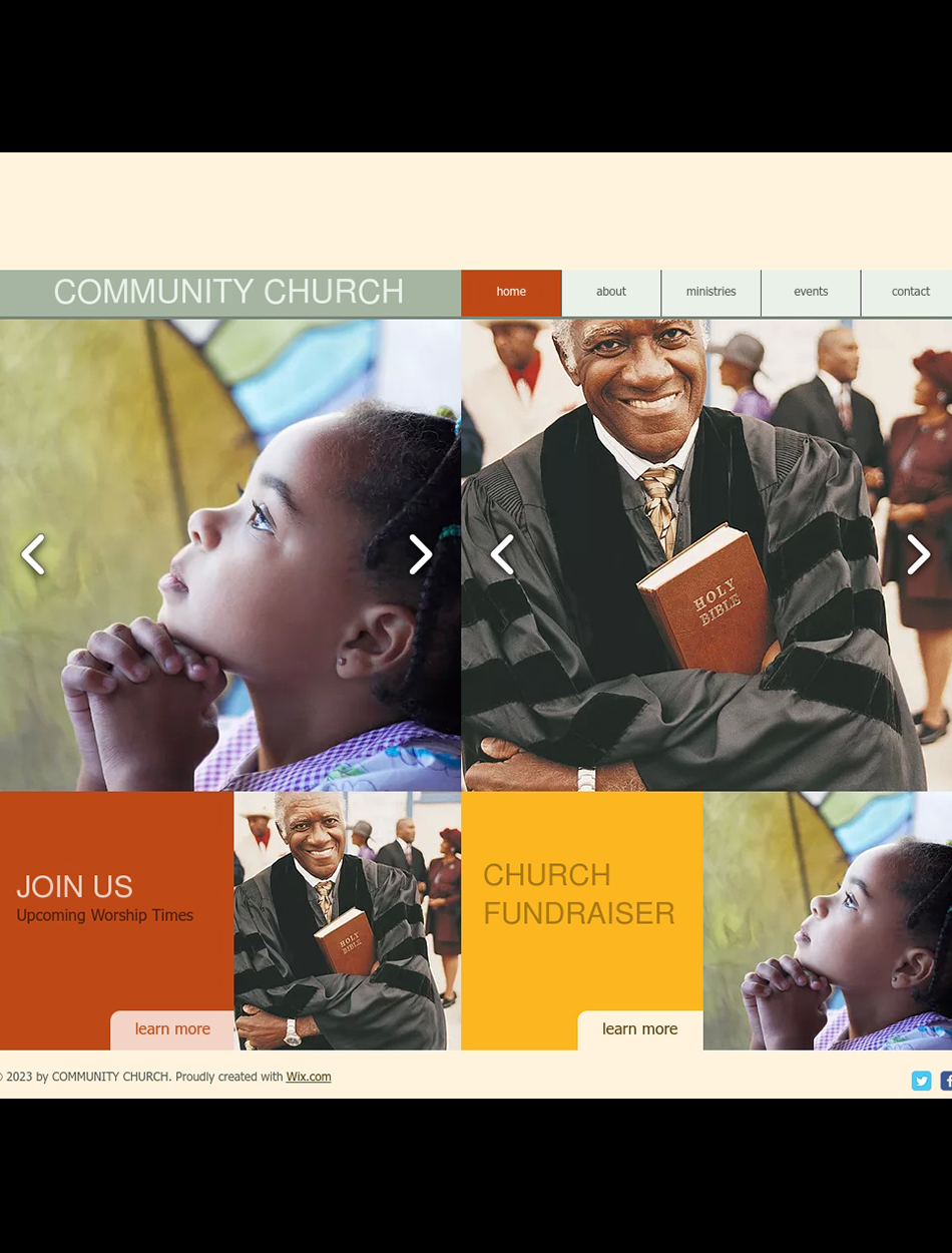 Community & Education Website Design