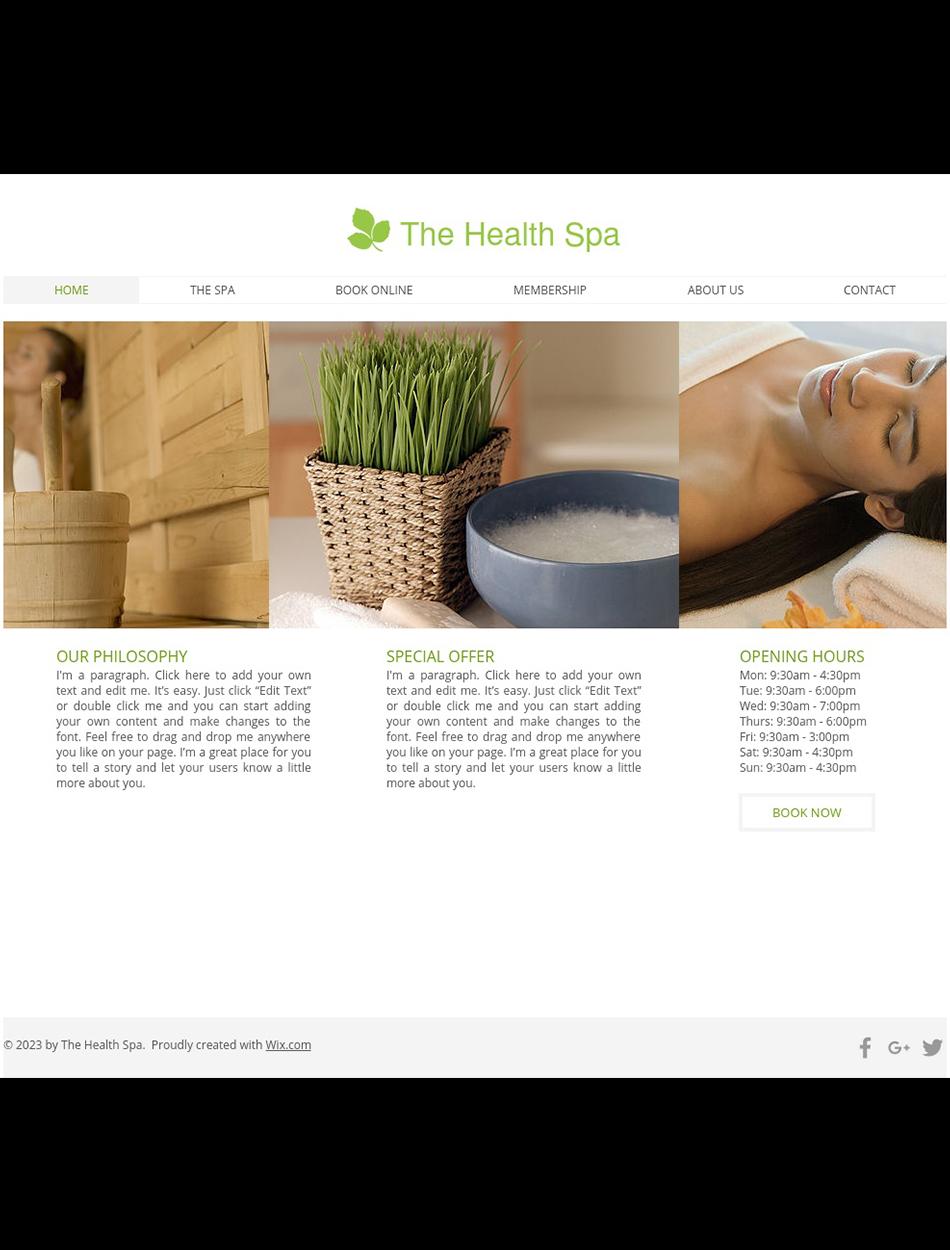 Health & Wellness Website Design