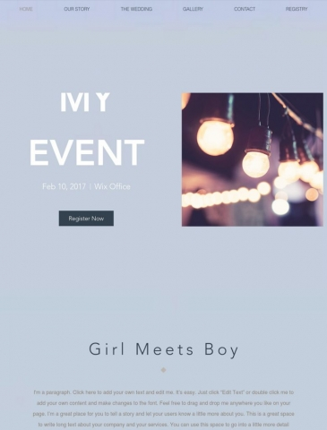 Events Website Design