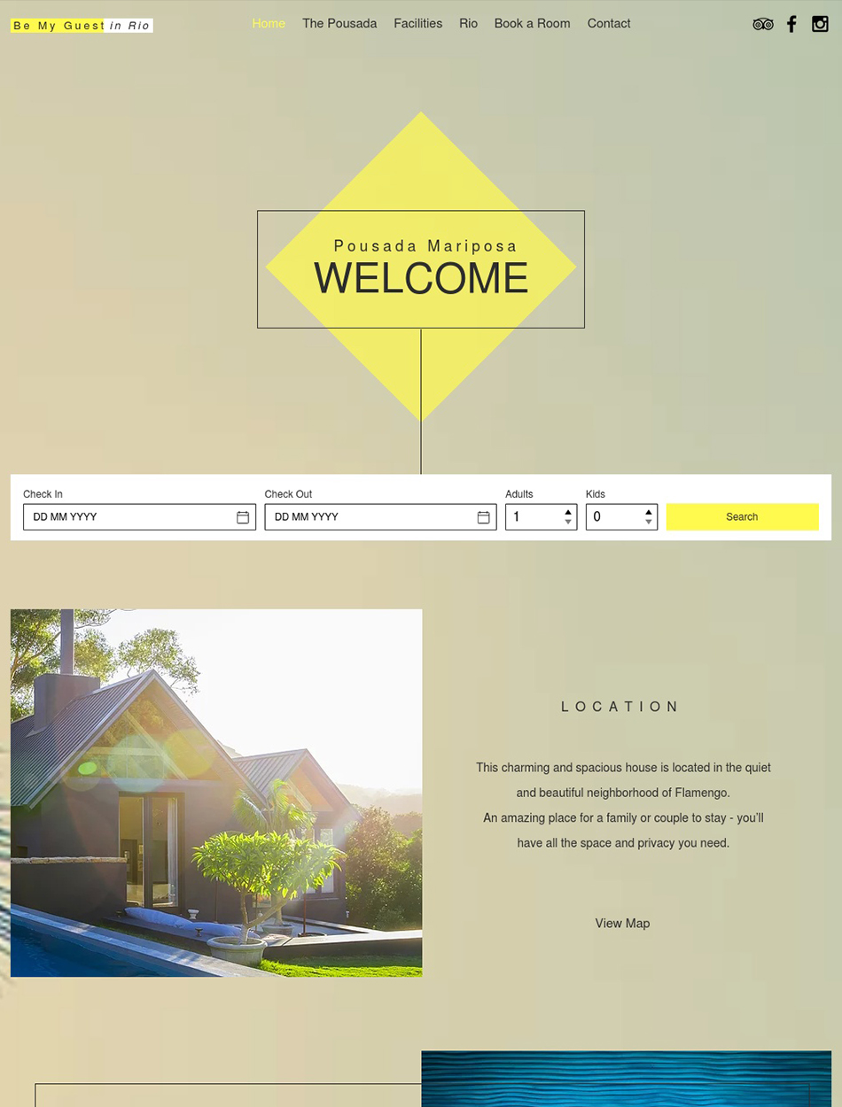 Accommodation Website Design