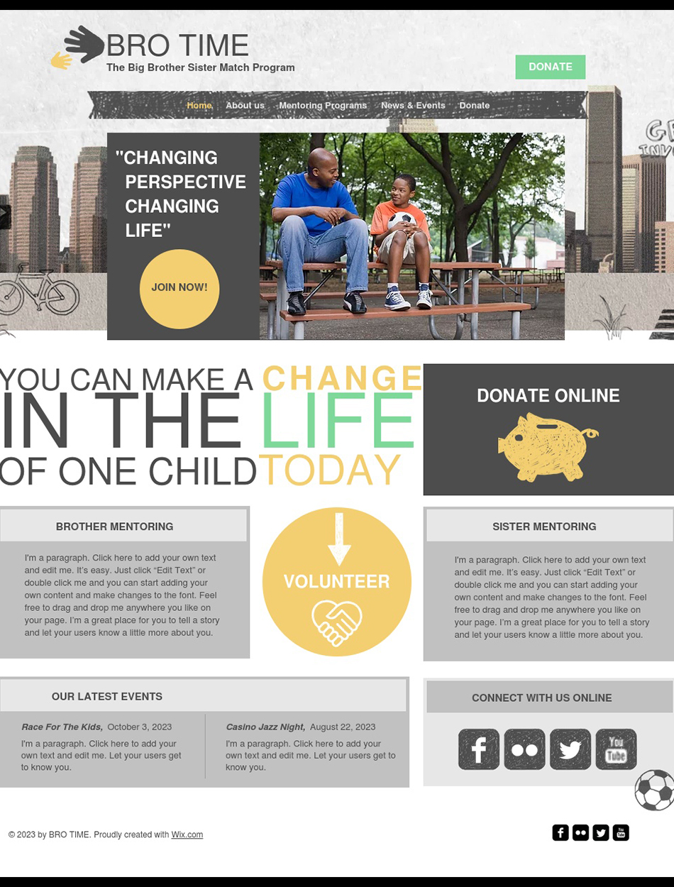 Community & Education Website Design