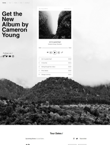 Music Website Design