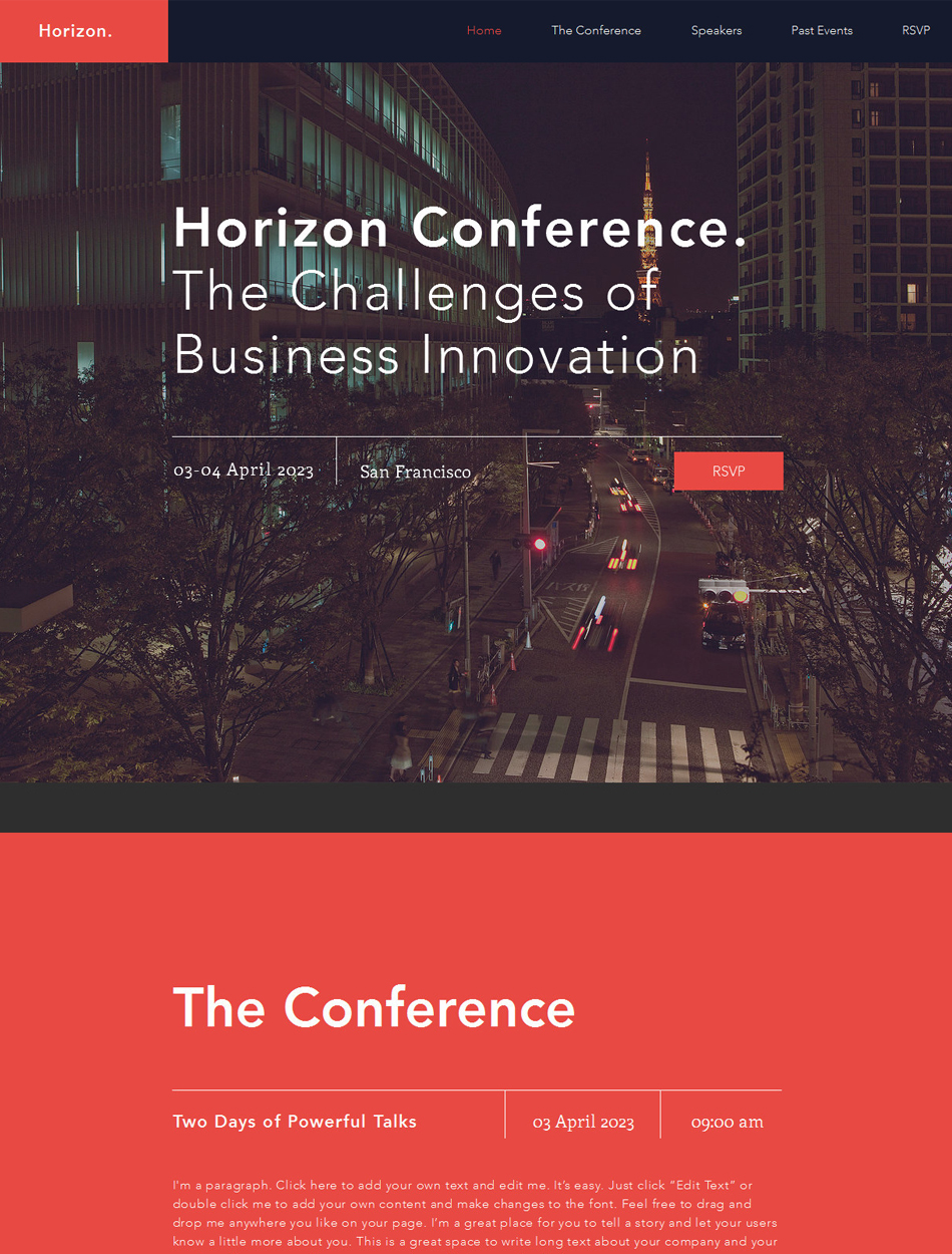 Events Website Design