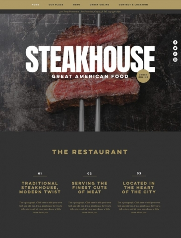 Restaurants & Food Website Design